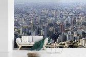 Fotobehang vinyl - Skyline van Belo Horizonte in Brazilië breedte 540 cm x hoogte 360 cm - Foto print op behang (in 7 formaten beschikbaar)