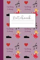 Tap Dancing Notebook: Journal For Women Who Love Tap Dance