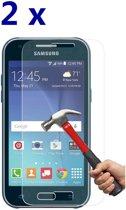 2 stuks Glass Screenprotector - Tempered Glass voor Samsung Galaxy J1 2015 J100