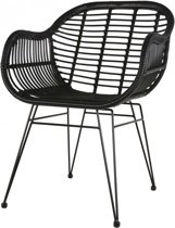 Outdoor Living Stoel Moda - Wicker - Zwart