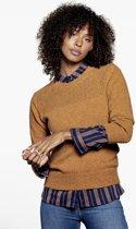 Loop.a life - Weekend Sweater driekwart -  Duurzame Trui - Honing - Maat -L