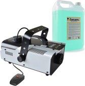 Rookmachine met rookvloeistof - BeamZ S900 rookmachine 900W met 5 liter rookvloeistof