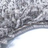 Hoogpolig shaggy vloerkleed 200x290cm licht grijs
