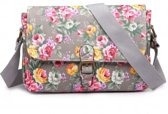 MISS LULU DORABLE FLORAL SATCHEL (E1656F GY)