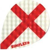 Harrows Darts Flight 4195p Dimplex Pear Red Cross