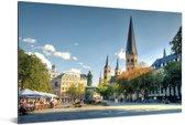 De Bonn Minster kerk in Bonn Aluminium 30x20 cm - klein - Foto print op Aluminium (metaal wanddecoratie)