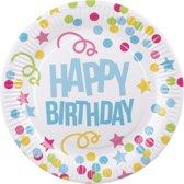 Set 6 Bordjes Happy Birthday (23 cm)