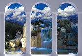 Fotobehang Waterfall Nature Arches   L - 152.5cm x 104cm   130g/m2 Vlies