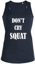 Don't cry Squat dames sport shirt / hemd / top - maat L