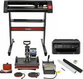 PixMax 5 in 1 Heat Press, Vinyl Cutter, Printer, Weeding Pack