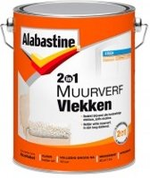 Alabastine 2In1 Synthetische Nicotineverf -Wit- 5L