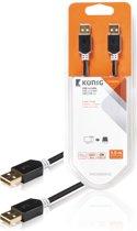 Konig USB 2.0 A Male naar USB 2.0 A Male - 3 m