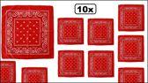 10x Rode boeren zakdoek 54 x 53 cm