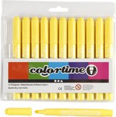 Colortime stift, 5 mm lijn, citroengeel, 12 stuks