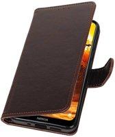 Nokia 8.1 Mocca   Premium bookstyle / book case/ wallet case    WN™