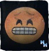 Emoji - Emoticon - Smiley - Heen en Weer - Kussen - Grijns