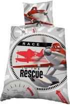 Dekbedovertrek licentie Planes Rescue Maat: 1-Persoons 140x200 + 1 Sloop