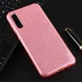Let op type!! Voor Galaxy A50 volledige dekking TPU + PC glittery poeder beschermende Back Cover (roze)