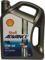 SHELL ADVANCE 4T ULTRA 15W50 - Motorolie - 4L
