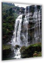 Dibond –Waterval– 40x60cm Foto op Dibond;Aluminium (Wanddecoratie van metaal)