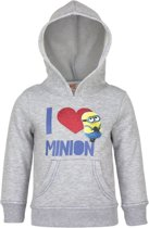 Minions grijze meisjes sweater maat 122/128