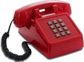 OPIS Push-Me-Fon RETRO TELEFOON / VINTAGE TELEFOON Rood