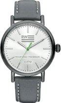 River Woods RW420027 Yukon horloge Heren - Grijs - Leer 42 mm