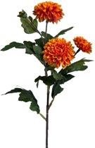 Viv! Home Luxuries Chrysant - zijden bloem - oranje - topkwaliteit