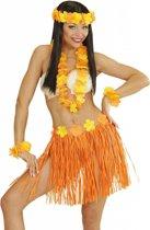 Hawaii set oranje en geel voor volwassenen