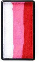 One stroke splitcake blocknr I (28 gram) Red   pink   white