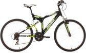Ks Cycling Mountainbike 26 inch fully-mountainbike Zodiac met 21 versnellingen zwart - 48 cm