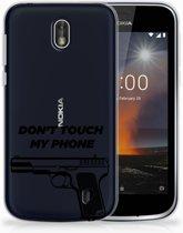 Nokia 1 Uniek TPU Hoesje Pistol DTMP