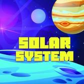 Solar System: Space book for children from 6 to 10 years old with elements of coloring.