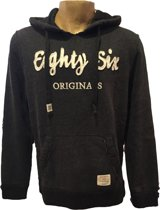 Eighty Six Hooded Sweater - Navy/Melee - Maat XL