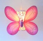 Funnylight kids lamp vlinder bloem happy roze - lieve hanglamp voor de baby en kinderkamer
