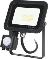 Led bouwlamp met sensor 20W koud-wit