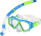 Aqua Lung Sport Molokai Spout Snorkelset Kinderen Blauw Groen