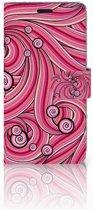 HTC Desire 530 Hoesje Swirl Pink