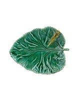 Bordallo Pinheiro Folhas Serveerschaaltje - Moerbeiblad - Sprinkhaan - Groen/Lichtgroen - Aardewerk - 17,5 cm