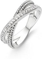 Ti Sento Milano 12020ZI Ring - Ring met stenen - Zilver witgoudverguld