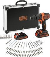 BLACK+DECKER BDCHD18BAFC Accu klopboormachine - 18V - 2 accu's - incl. 80 accessoires