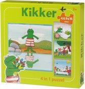 De wereld van Kikker 4-in-1 puzzel (4+6+9+16)