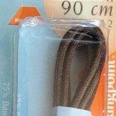 1 paar schoenveters 2 mm x 90 cm donkerbruin - Rond WAX Dunne schoenveter Ringpoint 85