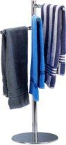 relaxdays handdoekenhouder vrijstaand - handdoekenrek - handdoekdrager metaal - modern