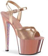 Pleaser Sandaal met enkelband -39 Shoes- SKY-309TTG Roze/Goudkleurig
