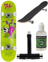 Enuff Skateboard MINI + Onderhoudspakket - Skully Green