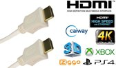 Blueqon - HDMI Kabel - 1.5 meter - Wit - High Speed (TV - PC - Laptop - Beamer - PS3 - PS4 - Xbox)