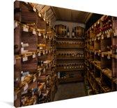 Een wijnkelder Canvas 30x20 cm - klein - Foto print op Canvas schilderij (Wanddecoratie woonkamer / slaapkamer)