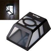 YouOKLight buiten hoogvermogen 0.2W Solar lantaarn licht  2 LED wit licht hek Lamp Solar Wall Light gemonteerd