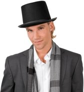 Zwarte goochelaarshoed volwassenen 57 cm - verkleedhoed